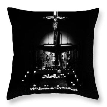 Radiant Light - Black Throw Pillow