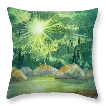 Radiant Recess Throw Pillow