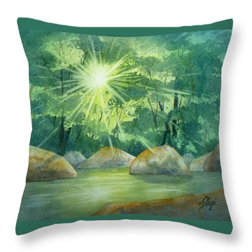 Radiant Recess Throw Pillow