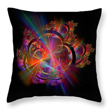 Radiant Rings Throw Pillow