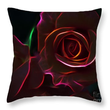 Radiant Rose  Throw Pillow