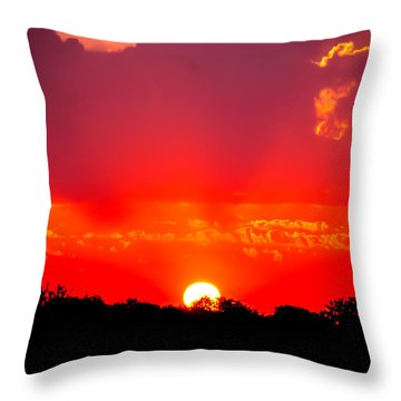 Throw Pillow featuring the photograph Radiant Sunset by Dee Dee  Whittle