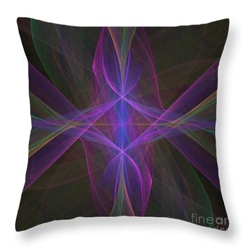 Throw Pillow featuring the digital art Radiant Veils by Ursula Freer