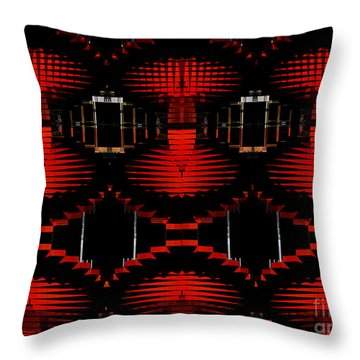 Throw Pillow featuring the photograph Radiation Dna Glow by Clayton Bruster