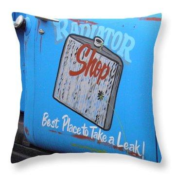 Radiator Shop Throw Pillow by Nick Kirby