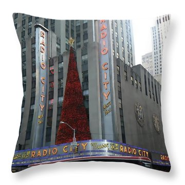 Radio City Christmas Throw Pillow