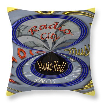Radio City Throw Pillow by Jean Noren
