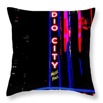 Radio City Music Hall Throw Pillow by Ed Weidman