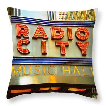 Throw Pillow featuring the photograph Radio City Music Hall by Judy Palkimas