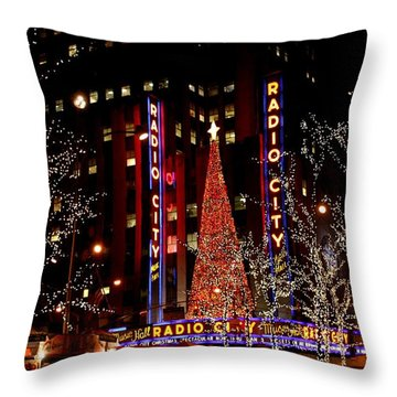 Radio City Music Hall Throw Pillow by Living Color Photography Lorraine Lynch