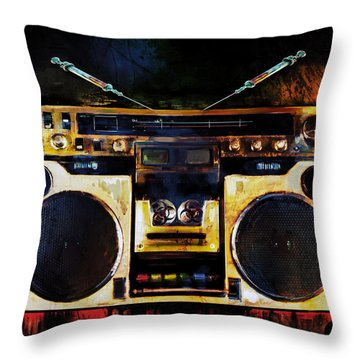 Radio Is Killing Me Throw Pillow