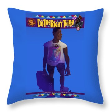 Radio Raheem Throw Pillow by Nelson Dedos Garcia