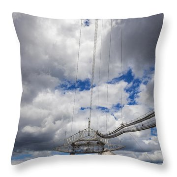 Radio Telescope At Arecibo Observatory In Puerto Rico Throw Pillow
