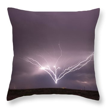 Radio Tower Strike Throw Pillow