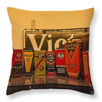 Radio Tubes Throw Pillow