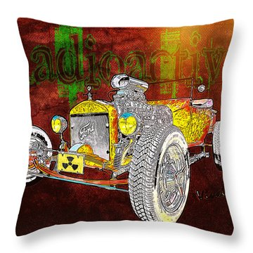Radioactive Rod Throw Pillow