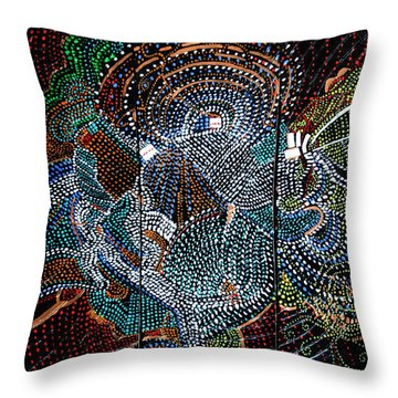 Radiohead Throw Pillow by Gloria Ssali