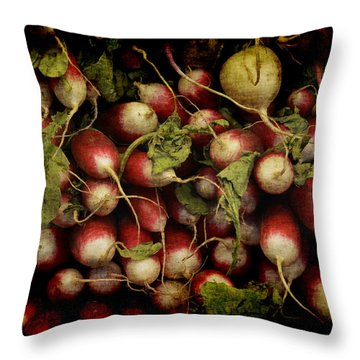 Flemish Radish Art Throw Pillow
