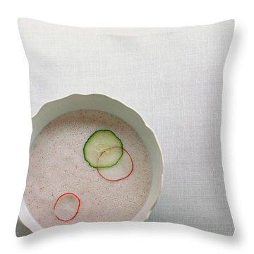 Radish Buttermilk Soup Throw Pillow