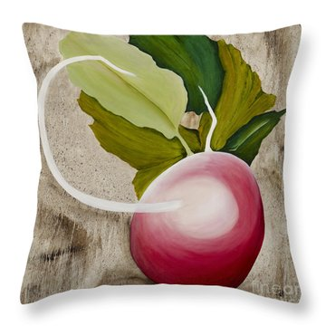 Throw Pillow featuring the painting Radish by Stuart Engel
