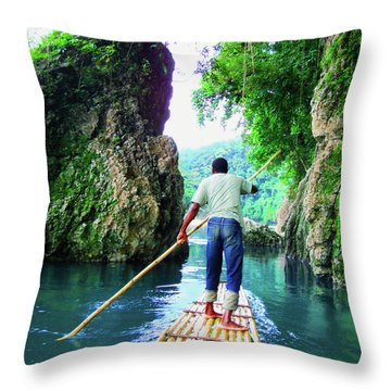 Rafting On The Rio Grande Throw Pillow by Carey Chen