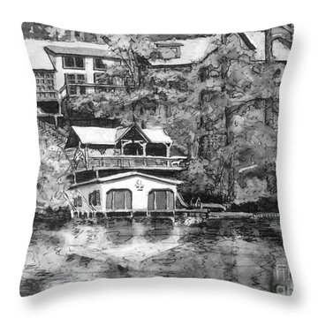 Ragan's Lake Rabun Home Throw Pillow by Gretchen Allen