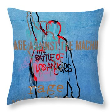 Rage Against The Machine Throw Pillow by Dan Sproul