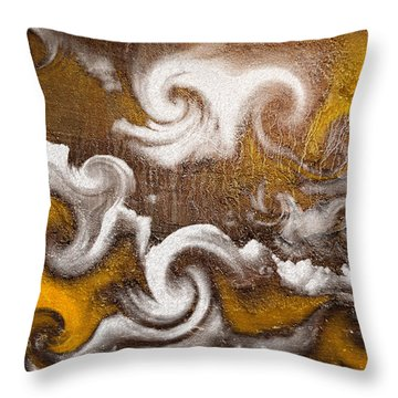 Throw Pillow featuring the digital art Rage by Davina Washington