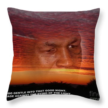 Rage Rage Against The Dying Of The Light Throw Pillow