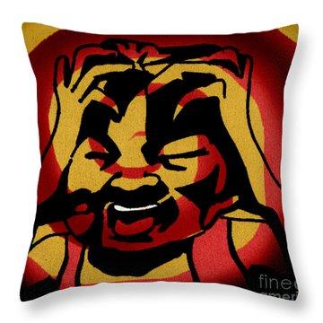 Rage Throw Pillow