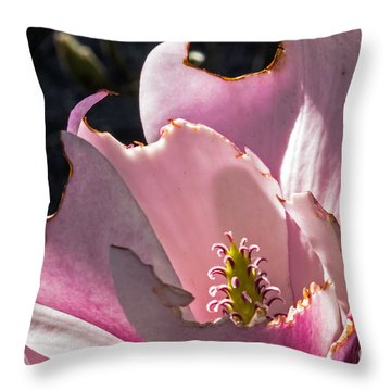 Ragged Magnolia Throw Pillow