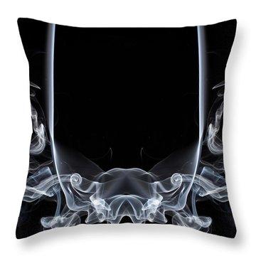 Raging Bull 1 Throw Pillow by Steve Purnell