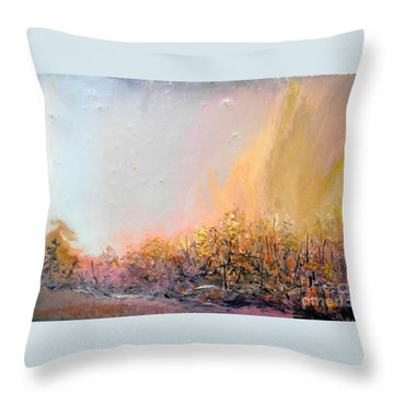 Raging Forest Fire Throw Pillow