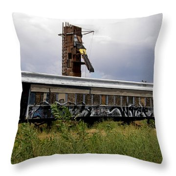 #ishalltakethisunboundtrainaway Throw Pillow by Becky Furgason