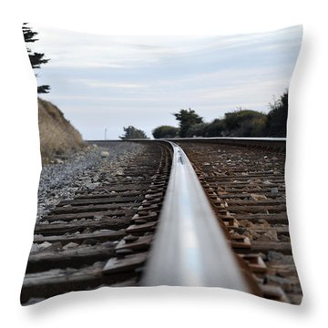Rail Rode Throw Pillow by Gandz Photography