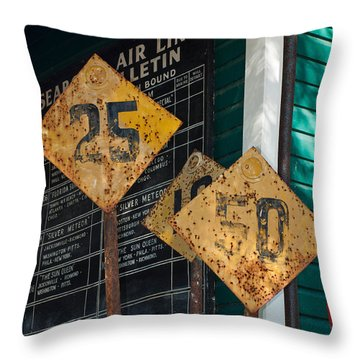 Rail Signs Throw Pillow
