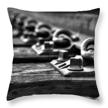 Rail Tie Throw Pillow