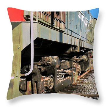 Throw Pillow featuring the photograph Rail Truck by Michael Gordon