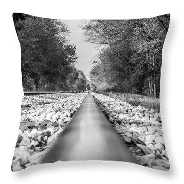 Rail Way Throw Pillow