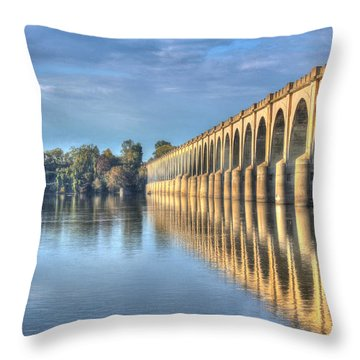 Railroad Bridge Throw Pillow