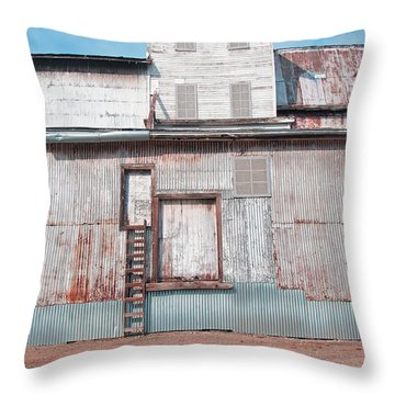 Railroad To The Past Throw Pillow
