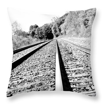 Throw Pillow featuring the photograph Railroad Track by Joe  Ng