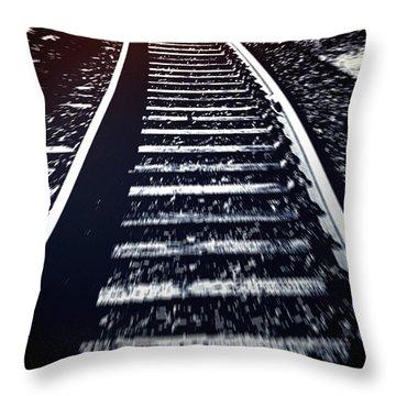 Throw Pillow featuring the photograph Railtrack by Craig B