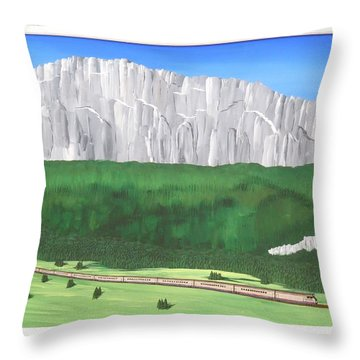 Railway Adventure Throw Pillow