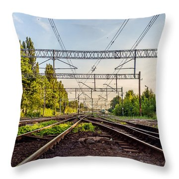 Railway To Nowhere Throw Pillow
