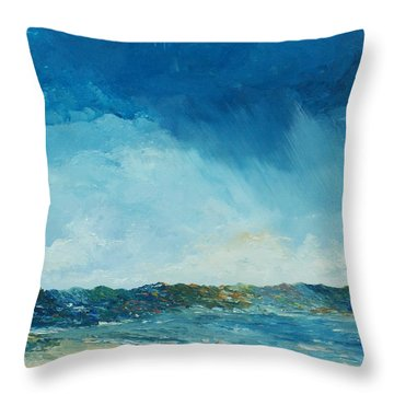 Rain A Comin Throw Pillow