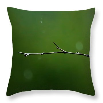Rain Bokeh Throw Pillow by Shelby  Young