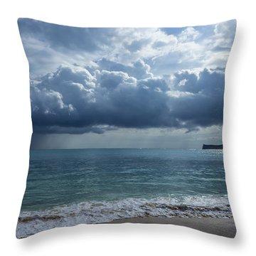 Rain Clouds At Waimanalo Throw Pillow