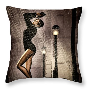 Rain Dance Throw Pillow by Bob Orsillo