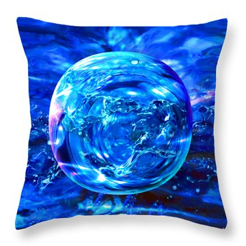 Throw Pillow featuring the painting Rain Dance  by Robin Moline